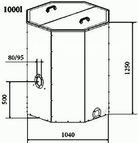 ATMOS Pelletsilo 1000 Liter Killus-Technik.de